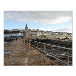 Porthleven Cornwall England in Winter Photograph