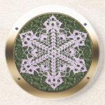 Porthole Doily Leaf Coaster