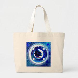 porthole in blue jumbo tote bag