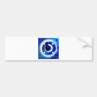 porthole in blue bumper sticker