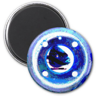 porthole in blue magnet