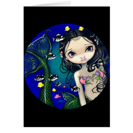 """Porthole Mermaid"" Greeting Card"