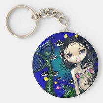 art, fantasy, eye, eyes, big eye, big eyed, porthole, mermaid, mermaids, fish, fishes, tropical, ocean, water, underwater, nautical, jasmine, becket-griffith, becket, griffith, jasmine becket-griffith, jasmin, strangeling, artist, goth, gothic, fairy, gothic fairy, faery, fairies, faerie, fairie, lowbrow, low brow, big eyes, strangling, fantasy art, original, lowbrow art, Keychain with custom graphic design