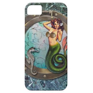 PORTHOLE  MERMAID, original art mermaid iPhone SE/5/5s Case