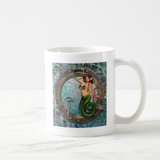 PORTHOLE  MERMAID, original art mermaids Coffee Mug