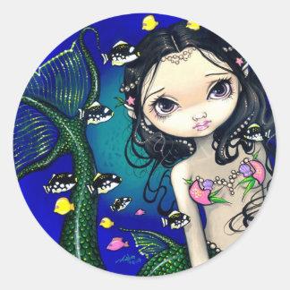 Porthole Mermaid Sticker