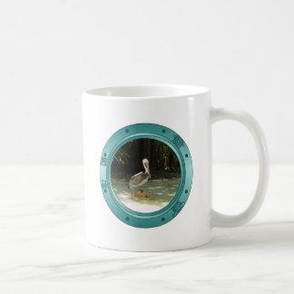 Porthole Pelican Coffee Mug