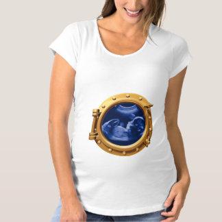 Porthole unltrasound pregnancy Halloween Costume Maternity T-Shirt