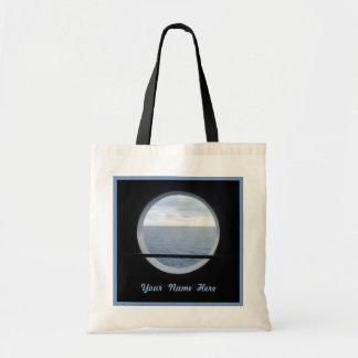 Porthole View BT1P Custom Name Budget Tote Bag