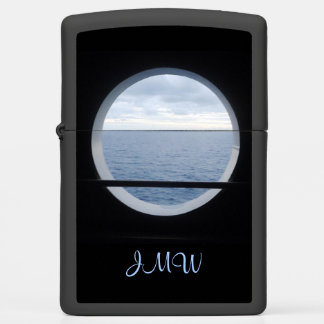 Porthole View Monogrammed Zippo Lighter