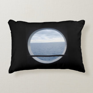 Porthole View Nautical Accent Pillow