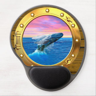 Porthole View of a Breaching Whale Gel Mouse Pad