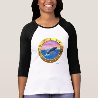 Porthole View of a Breaching Whale T-Shirt