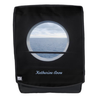 Porthole View Personalized Backpack