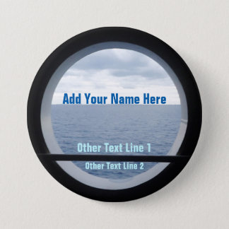 Porthole View Personalized Button