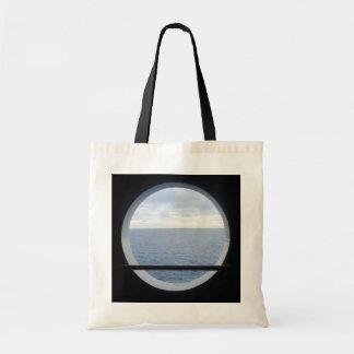 Porthole View Simple Budget Tote Bag