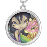 Portholes to Fantasy 1 NECKLACE dragon mermaid