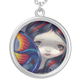 Portholes to Fantasy 3 NECKLACE big eyed mermaid