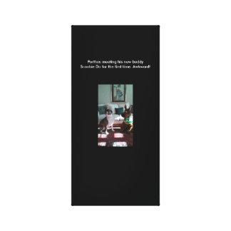 Porthos  meets Scoobie Canvas Print