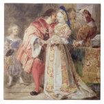 Portia y Bassanio, c.1826 (w/c, tinta marrón, body Tejas Cerámicas