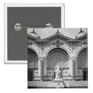 Portico and fountain at the Universal Pinback Button