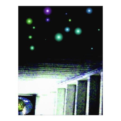 Pórtico de la galaxia del misterio con Sun distant Flyer A Todo Color
