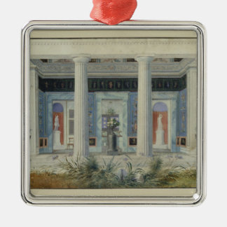 Pórtico del jardín, c.1834 adorno navideño cuadrado de metal