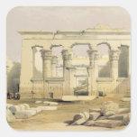 """Pórtico del templo de Kalabshah, de """"Egipto Pegatina Cuadrada"""