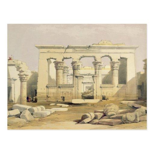 """Pórtico del templo de Kalabshah, de """"Egipto Postal"""