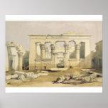 """Pórtico del templo de Kalabshah, de """"Egipto Póster"""