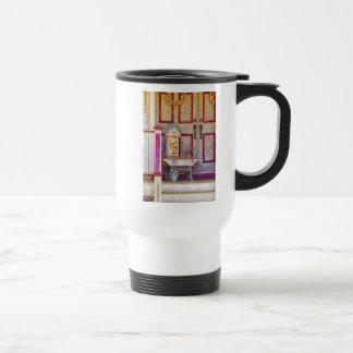 Pórtico - el colector del birdhouse taza de café