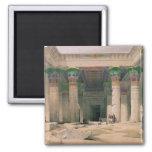 Pórtico magnífico del templo de Philae, Nubia Imán Cuadrado