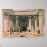 Pórtico magnífico del templo de Philae, Nubia Póster
