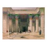 Pórtico magnífico del templo de Philae, Nubia Tarjetas Postales