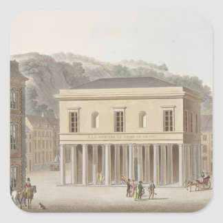 Portico of the Fountain of Pouhon at Spa, from 'Ch Square Sticker