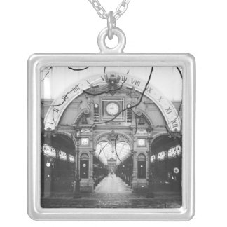 Portico of the Horology Pavilion Silver Plated Necklace