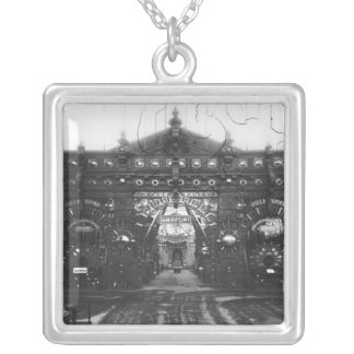 Portico of the Metallurgy Pavilion Silver Plated Necklace