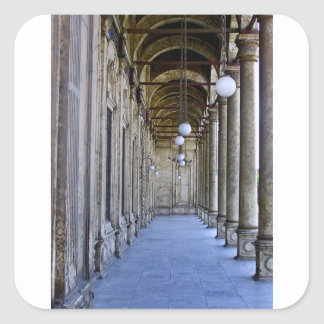 Portico of the Sultan Ali mosque in Cairo Square Sticker