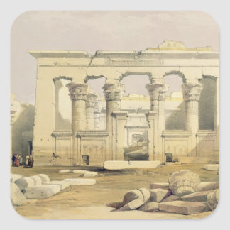 """Portico of the Temple of Kalabshah, from """"Egypt an Square Sticker"""