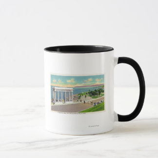 Portico over Plymouth Rock View of Plymouth Mug