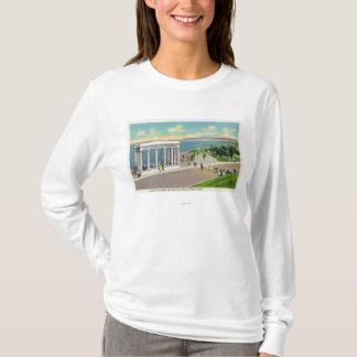 Portico over Plymouth Rock View of Plymouth T-Shirt