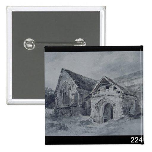 Pórtico y Transept de una iglesia, c.1850-11 Pin