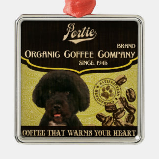Portie Brand – Organic Coffee Company Metal Ornament