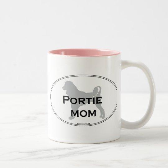Portie Mom Two-Tone Coffee Mug
