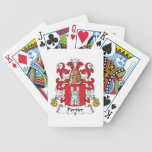 Portier Family Crest Bicycle Poker Cards