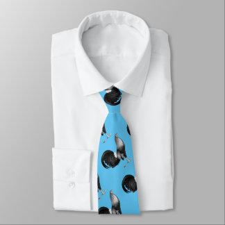 Portilla del rojo del gallo de pelea corbatas personalizadas