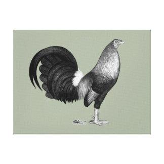 Portilla del rojo del gallo de pelea lona envuelta para galerias