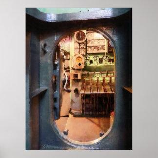 Portilla en submarino poster