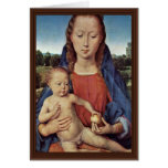 Portinari Triptych-Central Panel: Madonna Greeting Card