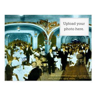 Portion of Main Dining Room, Bismarck Cafe. Fritz Postcard